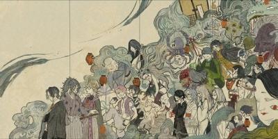 日本浮世繪《鬼滅之刃》:畫風罕見超獨特,童磨真是個迷人的大反派